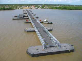 Mabey Floating Bridge, Berbice - Guyana