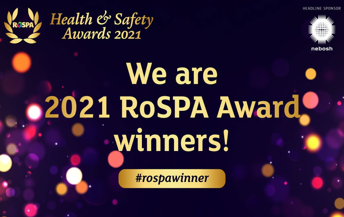 Mabey Bridge recognised for outstanding record of occupational health and safety with fifth consecutive RoSPA Gold Award